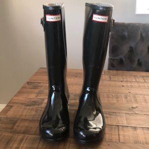 Hunter Tall Boots Black size 7